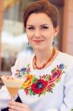 Молодая красивая украинская женщина Стоковые Фотографии RF