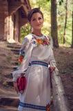 Молодая красивая украинская женщина Стоковые Изображения