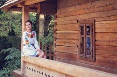 Молодая красивая украинская женщина Стоковая Фотография RF