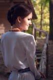Молодая красивая украинская женщина Стоковое фото RF