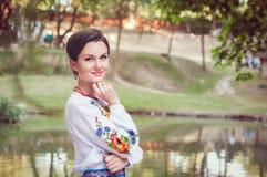 Молодая красивая украинская женщина Стоковые Изображения RF