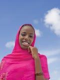 Молодая красота под солнцем, 18 лет Афро старых Стоковые Фотографии RF