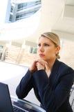 Молодая милая бизнес-леди с тетрадью Стоковая Фотография