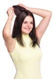 Молодая милая женщина Стоковая Фотография