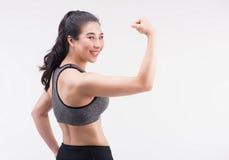 Молодая молодая концепция женщины, здоровых и образа жизни фитнеса стоковое изображение rf