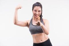 Молодая молодая концепция женщины, здоровых и образа жизни фитнеса стоковые изображения