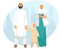 Молодая мусульманская семья Стоковое Фото