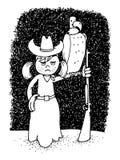 Молодая пастушка с оружием и хищником Стоковое Изображение RF