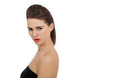 Молодая привлекательная женщина с совершенной кожей стоковые фотографии rf