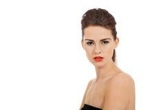 Молодая привлекательная женщина с совершенной кожей стоковые изображения