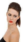 Молодая привлекательная женщина с совершенной кожей стоковое фото rf