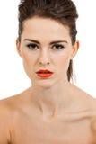 Молодая привлекательная женщина с совершенной кожей стоковое изображение