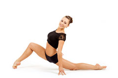 Молодая профессиональная женщина гимнаста Стоковое Изображение