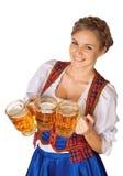 Молодая сексуальная женщина Oktoberfest Стоковое Изображение RF