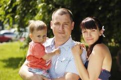 Молодая семья Стоковая Фотография RF