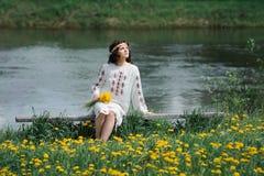 Молодая славянская девушка Стоковая Фотография