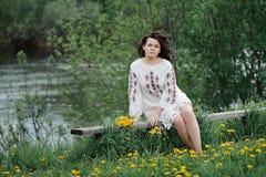 Молодая славянская девушка Стоковые Фото