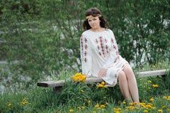 Молодая славянская девушка Стоковые Фотографии RF