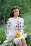 Молодая славянская девушка Стоковые Изображения RF
