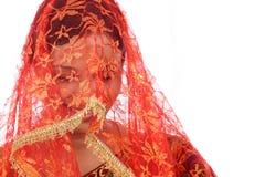 Молодая традиционная индийская женщина Стоковая Фотография