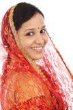 Молодая традиционная индийская женщина Стоковая Фотография RF