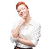Молодая усмехаясь бизнес-леди Стоковое Фото