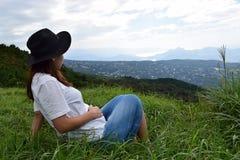 Молодая японская девушка Стоковая Фотография