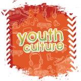 Молодежная культура иллюстрация штока
