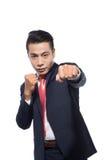 Молодое азиатское бой бизнесмена Стоковые Фотографии RF