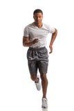 Молодое Афро-американское изолированное крытое бегуна Стоковое фото RF