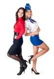 Молодое привлекательное дело lafy и стюардесса Стоковая Фотография
