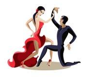 Молодое танцы пар Стоковое Изображение