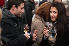 Молодое торжество вина на дне St Martin в Праге Стоковое Фото