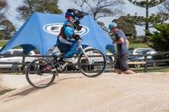 Молодое BMXer Стоковое Изображение