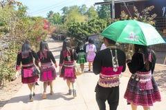 Молодое Hmong к Новому Году Hmong Стоковое Изображение RF