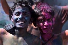 Молодое Holi стоковые изображения rf