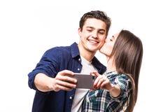 Молодое selfie взятия пар Стоковое Изображение
