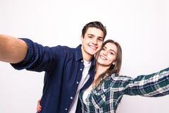 Молодое selfie взятия пар Стоковые Изображения