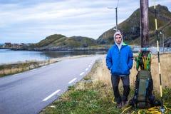 Молодой автостопщик Стоковое фото RF