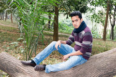 Молодой азиатский человек Стоковые Фотографии RF