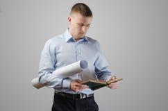 Молодой архитектор бизнесмена Стоковые Изображения RF