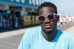 Молодой Афро-американский человека портрет outdoors стоковые фото