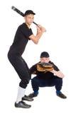 Молодой бейсбол игры мальчиков Стоковые Фотографии RF