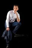 Молодой бизнесмен вскользь Стоковое Изображение RF