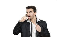 Молодой бизнесмен под увольнянным стрессом, Стоковая Фотография RF