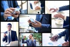 Молодой бизнесмен работая в офисе Стоковые Изображения RF