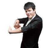 Молодой бизнесмен танцев Стоковое Изображение RF