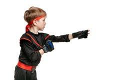Молодой боец айкидо Стоковое фото RF