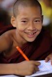 Молодой буддийский послушник, Мьянма Стоковое Изображение