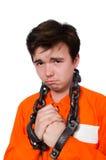 Молодой воспитанник при изолированные цепи стоковое изображение rf